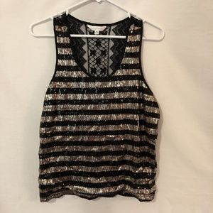 Charming Charlie Blouse Lace Tank Top